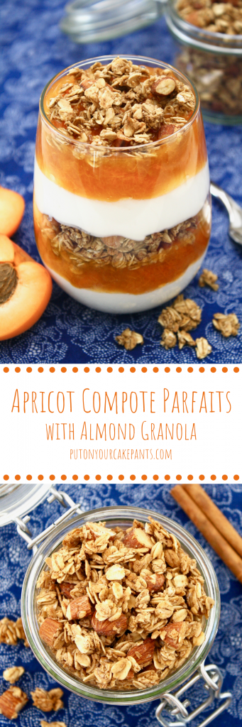 apricot compote parfaits with almond granola