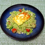 Broccoli Couscous with Halloumi Cheese