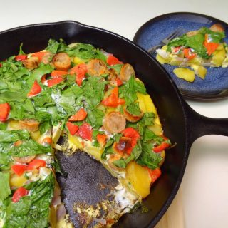 Milkless Monday: Potato Spinach Frittata