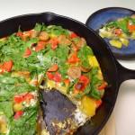 Milkless Monday: Potato Spinach Frittata