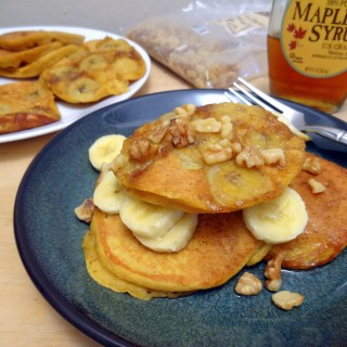 National Pancake Day: Bananas Foster Pumpkin Pancakes