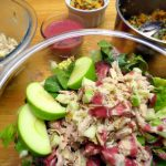 Chicken Salad Salad with Roasted Grape Vinaigrette