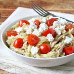 Orzo with Chicken, Feta, and Tomatoes