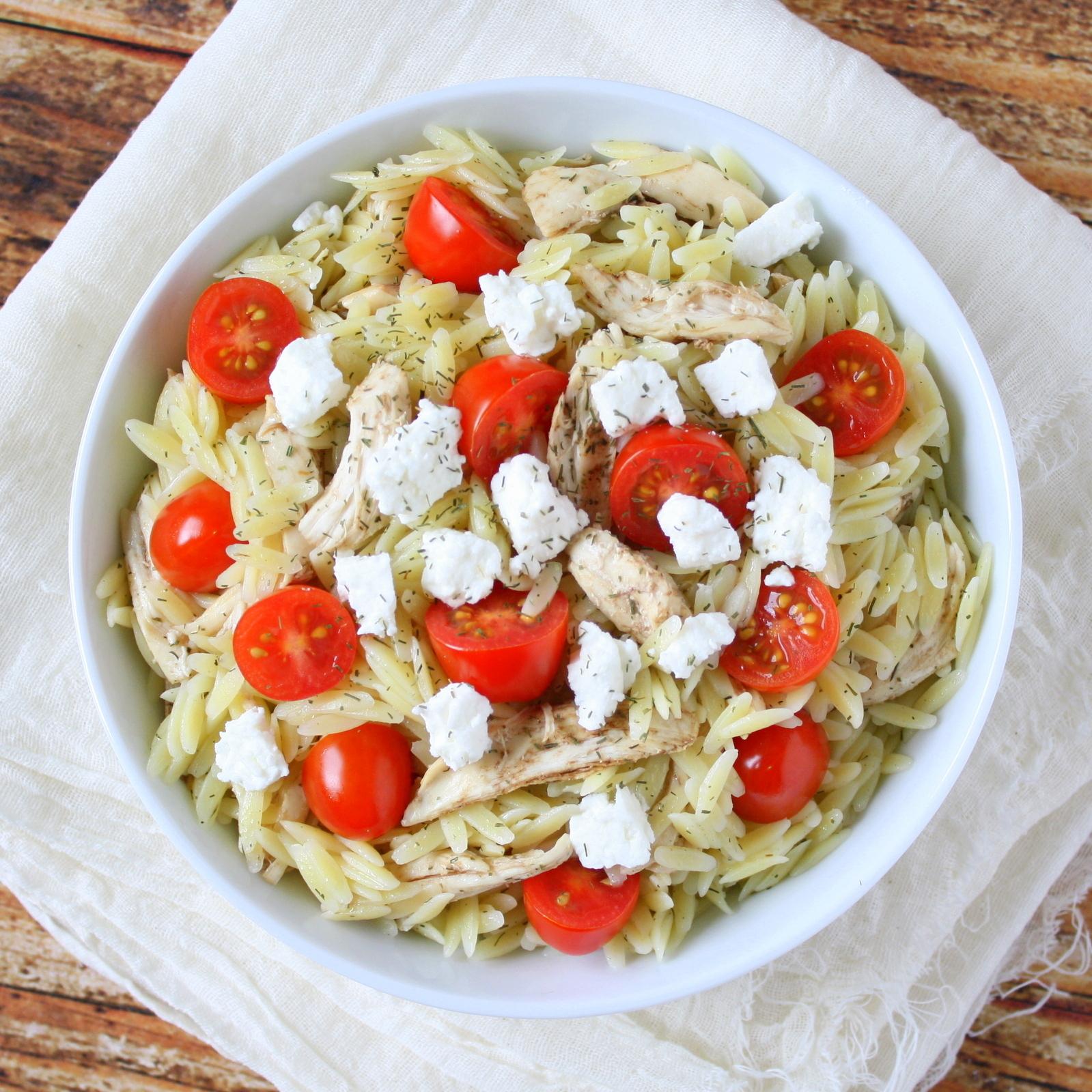 feta and dill orzo salad