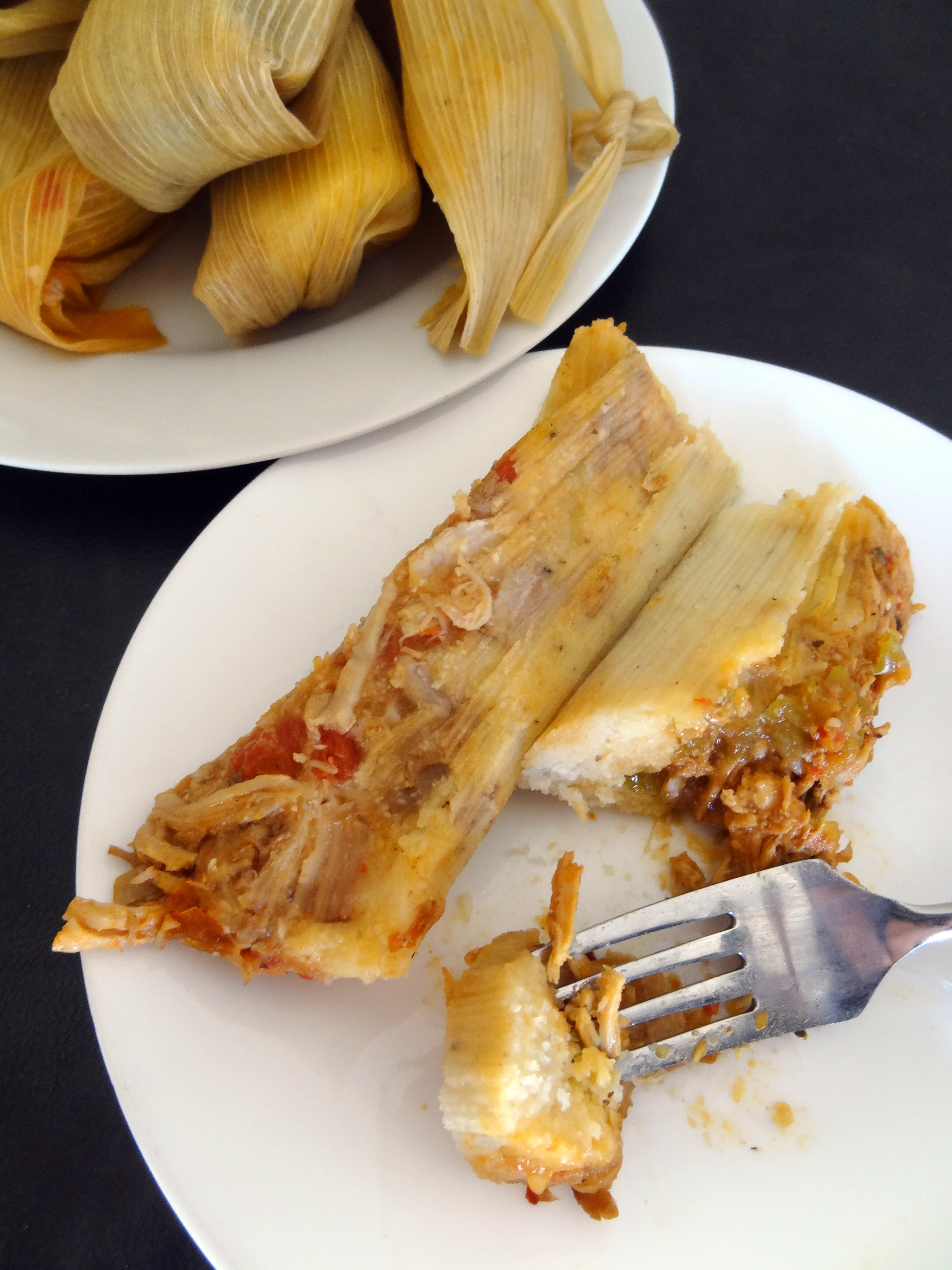 Mexican Tamales with Guajillo-Pineapple Sauce