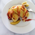 Spiced Cranberry Pancakes with Sautéed Apples