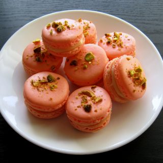 Grapefruit Pistachio French Macarons