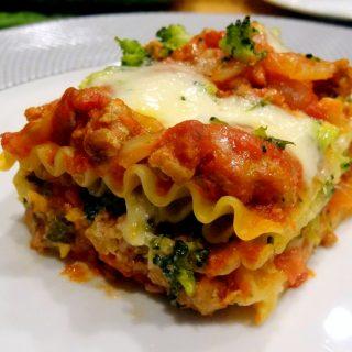 Three-Cheese Turkey Lasagna with Broccoli