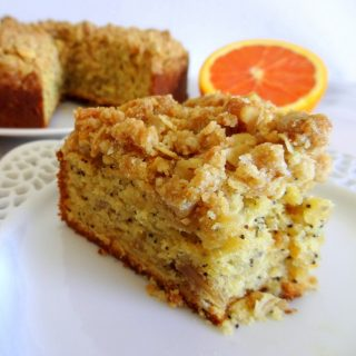Orange Ricotta Poppy Seed Coffee Cake