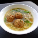 Ginger Sesame Turkey Meatballs in Egg Flower Soup