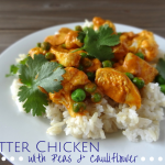 Butter Chicken with Peas and Cauliflower