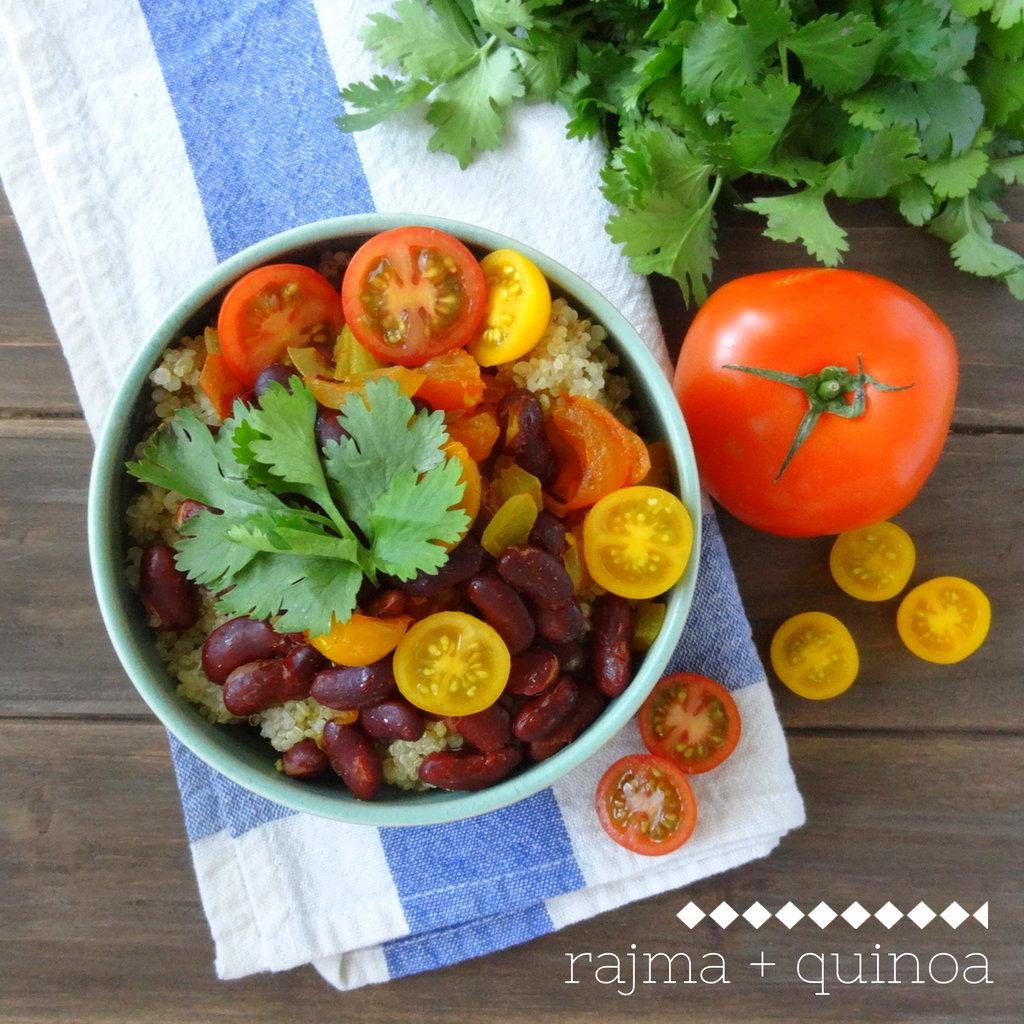 Rajma Quinoa (Indian-style kidney beans)