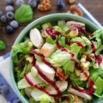 Walnut & Chicken Salad with Blueberry Vinaigrette
