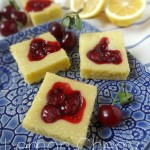 Lemon Cherry (or Blueberry) Cake Bars