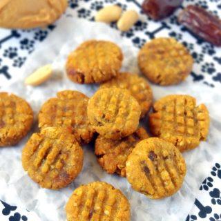 Peanut Butter Pumpkin Cookies for Dogs