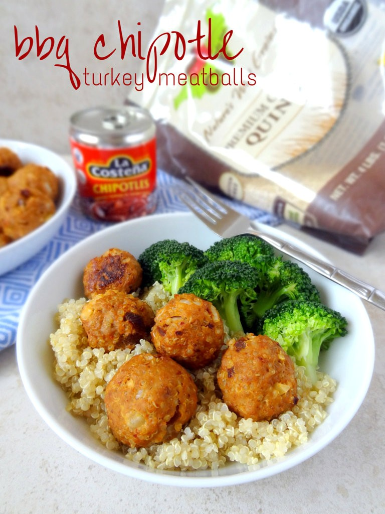 BBQ chipotle turkey meatballs