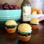 Cherry Caprese Cornbread Sliders