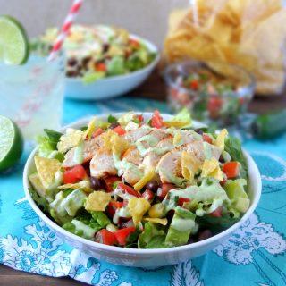 Pico de Gallo Grilled Chicken Salad + Second Blogiversary!