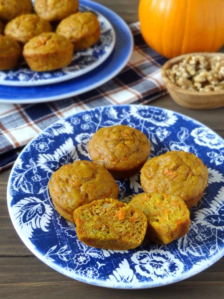 pumpkin carrot cake muffins