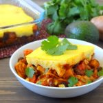 Chicken and Sweet Potato Tamale Pie