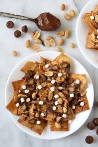 peanut butter s'mores dessert nachos
