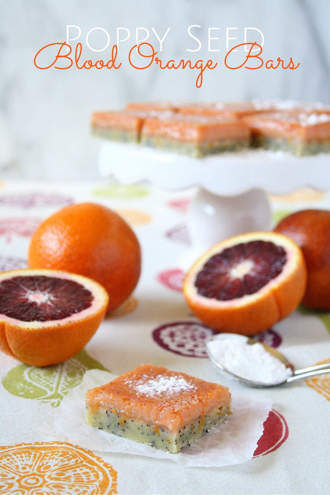 poppy seed blood orange bars