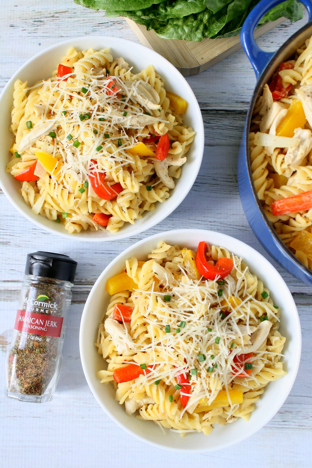 Jamaican jerk chicken pasta
