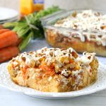 mango carrot cake French toast casserole