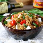 Caprese Quinoa Salad with Sun-Dried Tomato Vinaigrette