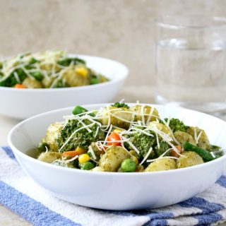 Creamy Pesto Gnocchi with Vegetables
