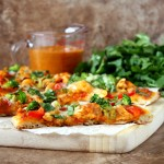 butter chicken naan pizza