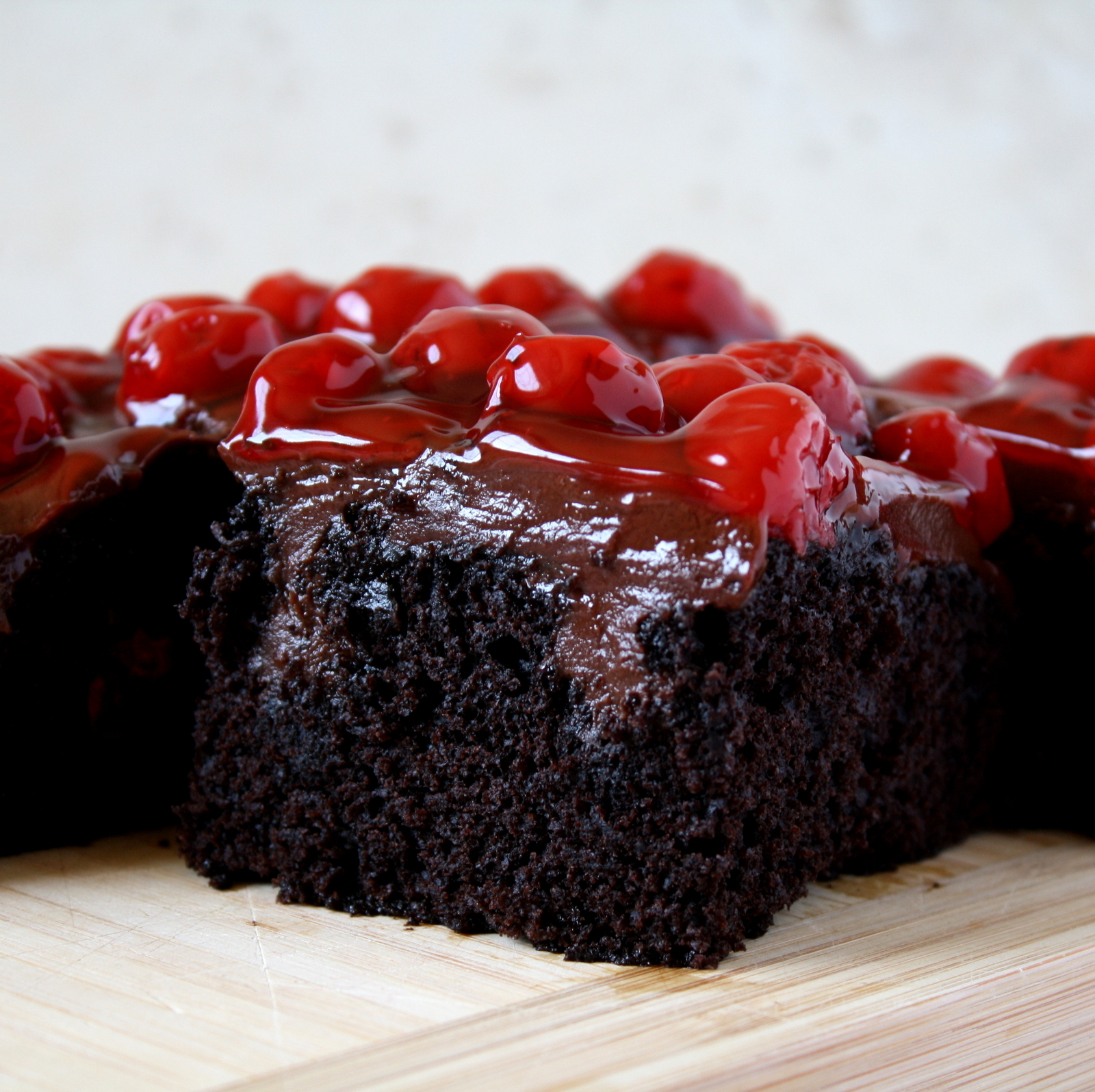 vegan Black Forest poke cake