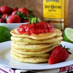 Strawberry Lime Margarita Pancakes