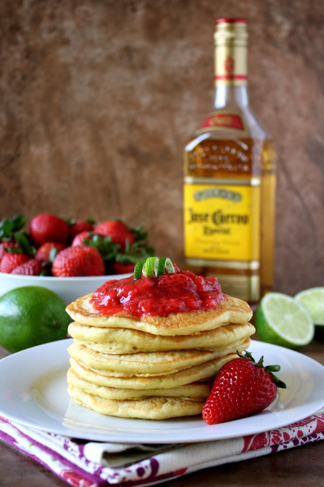 strawberry lime margarita pancakes