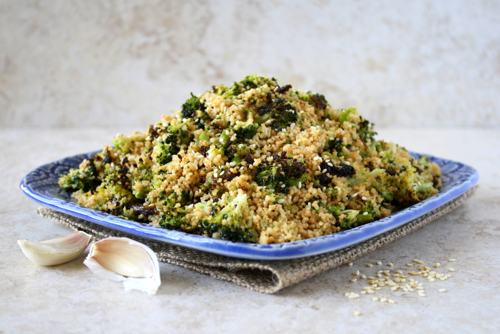 roasted broccoli couscous