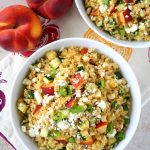 Chipotle-Peach Quinoa Salad