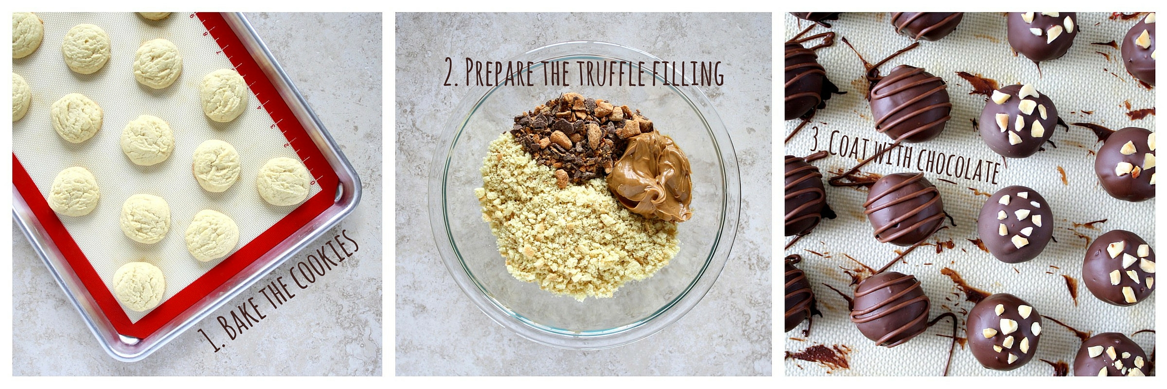 3-step peanut butter Butterfinger truffles #mixinmoments #shop