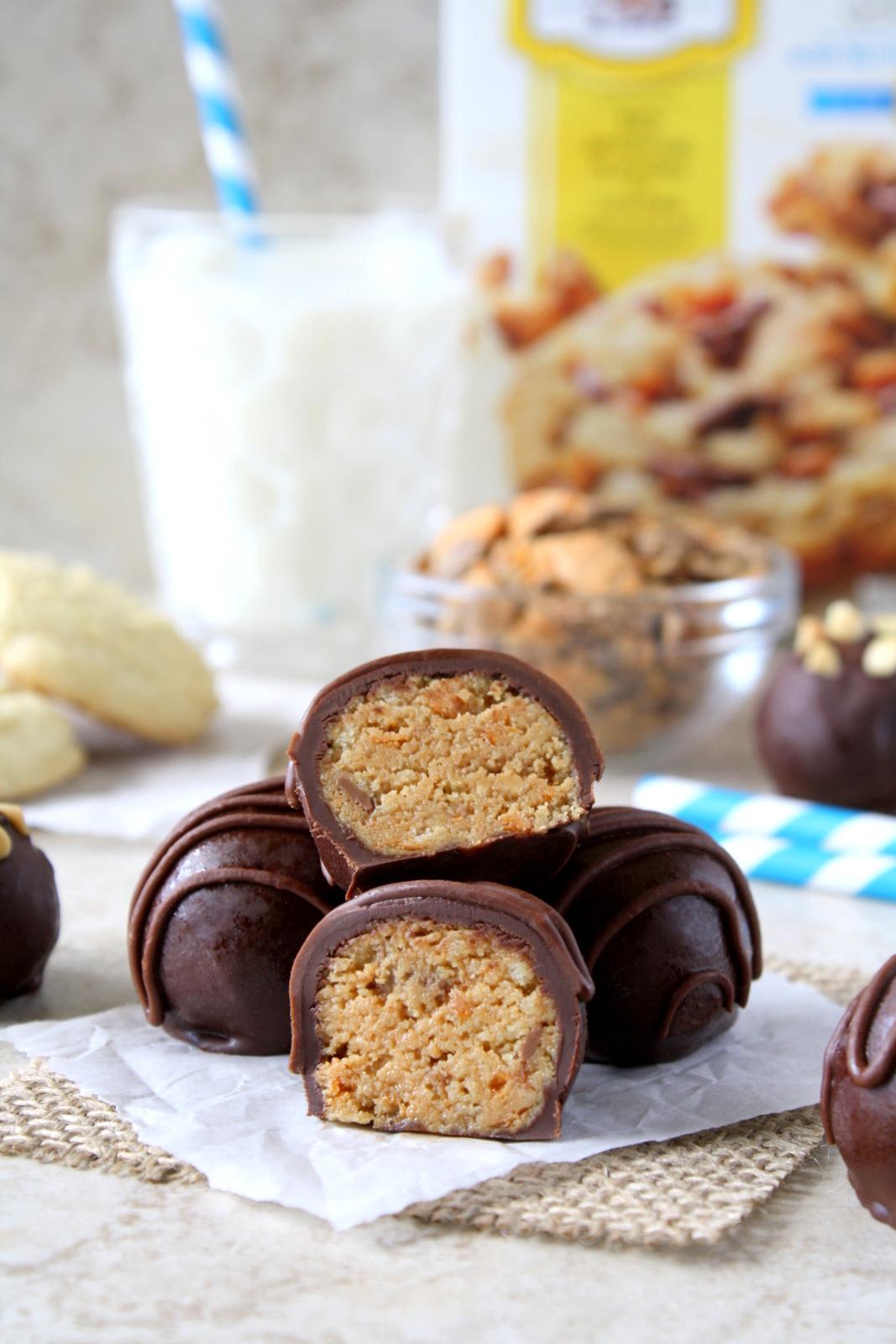 peanut butter Butterfinger truffles #mixinmoments #shop