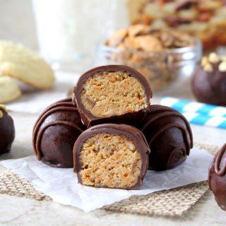Peanut Butter Butterfinger Truffles