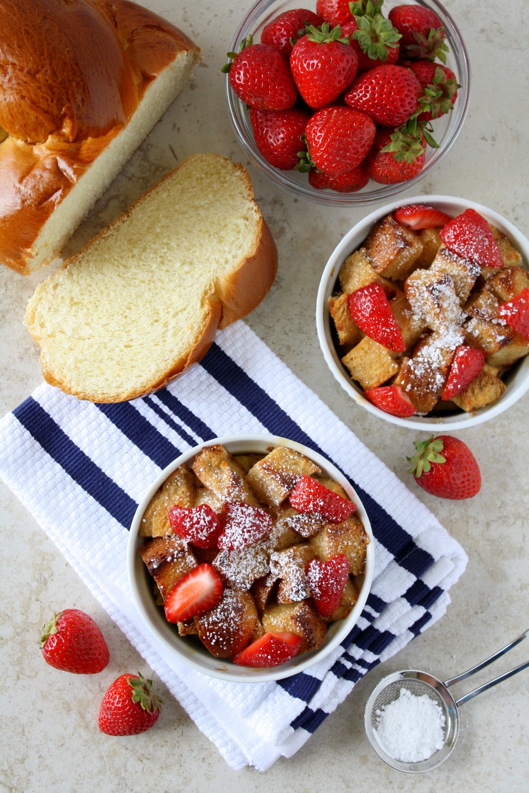 Strawberry Shortcake Bread Pudding #DairyFree4All #shop