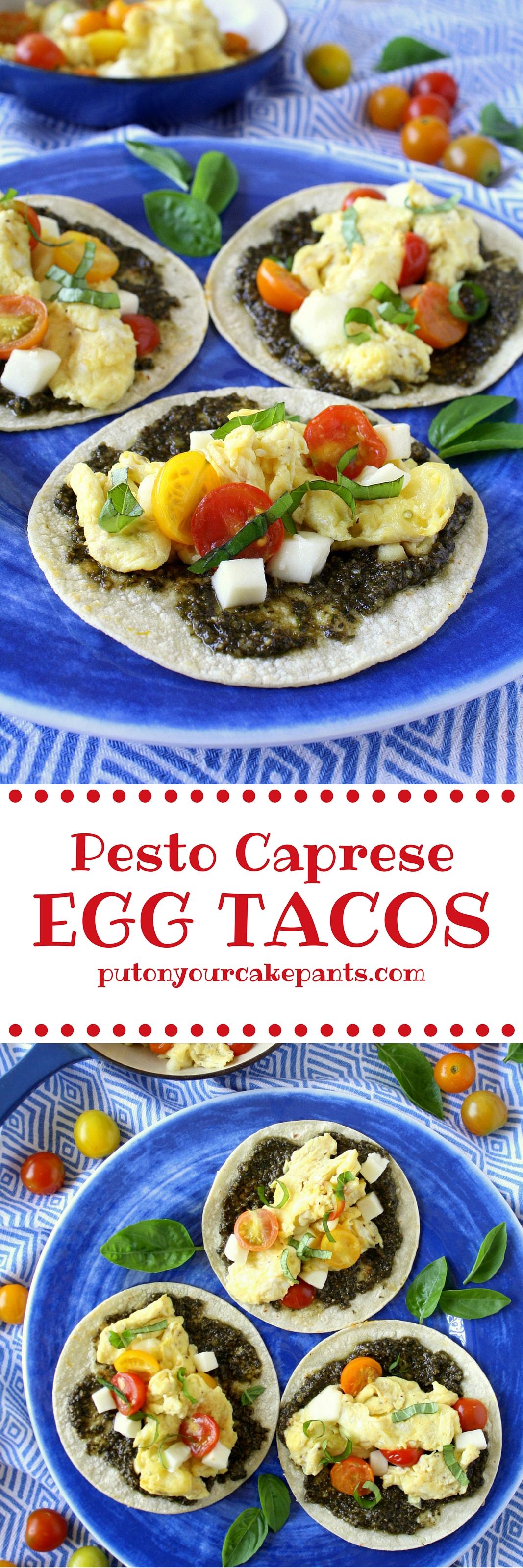 pesto caprese egg tacos