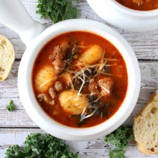 Italian Tomato Gnocchi Soup