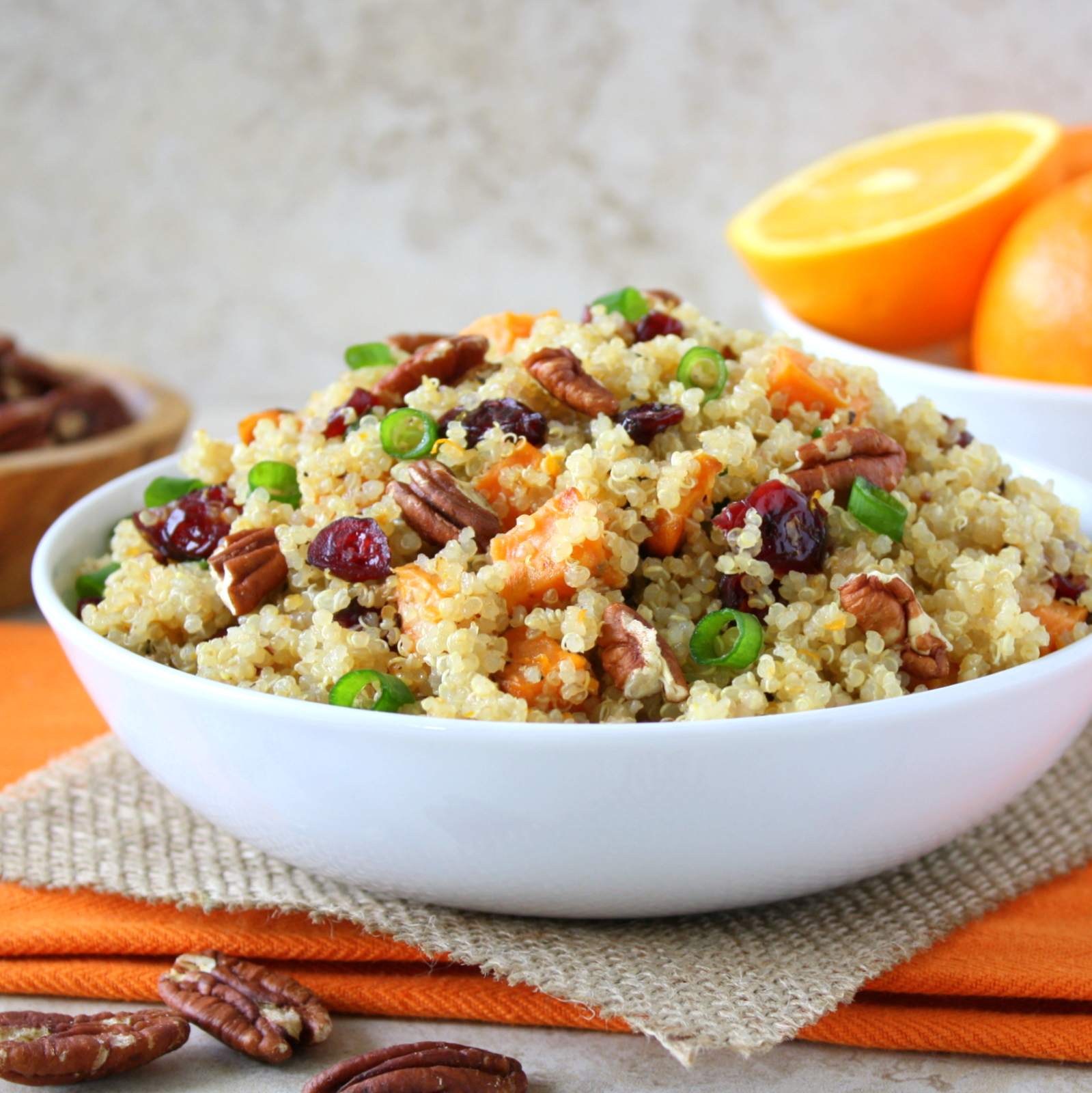 cranberry sweet potato quinoa