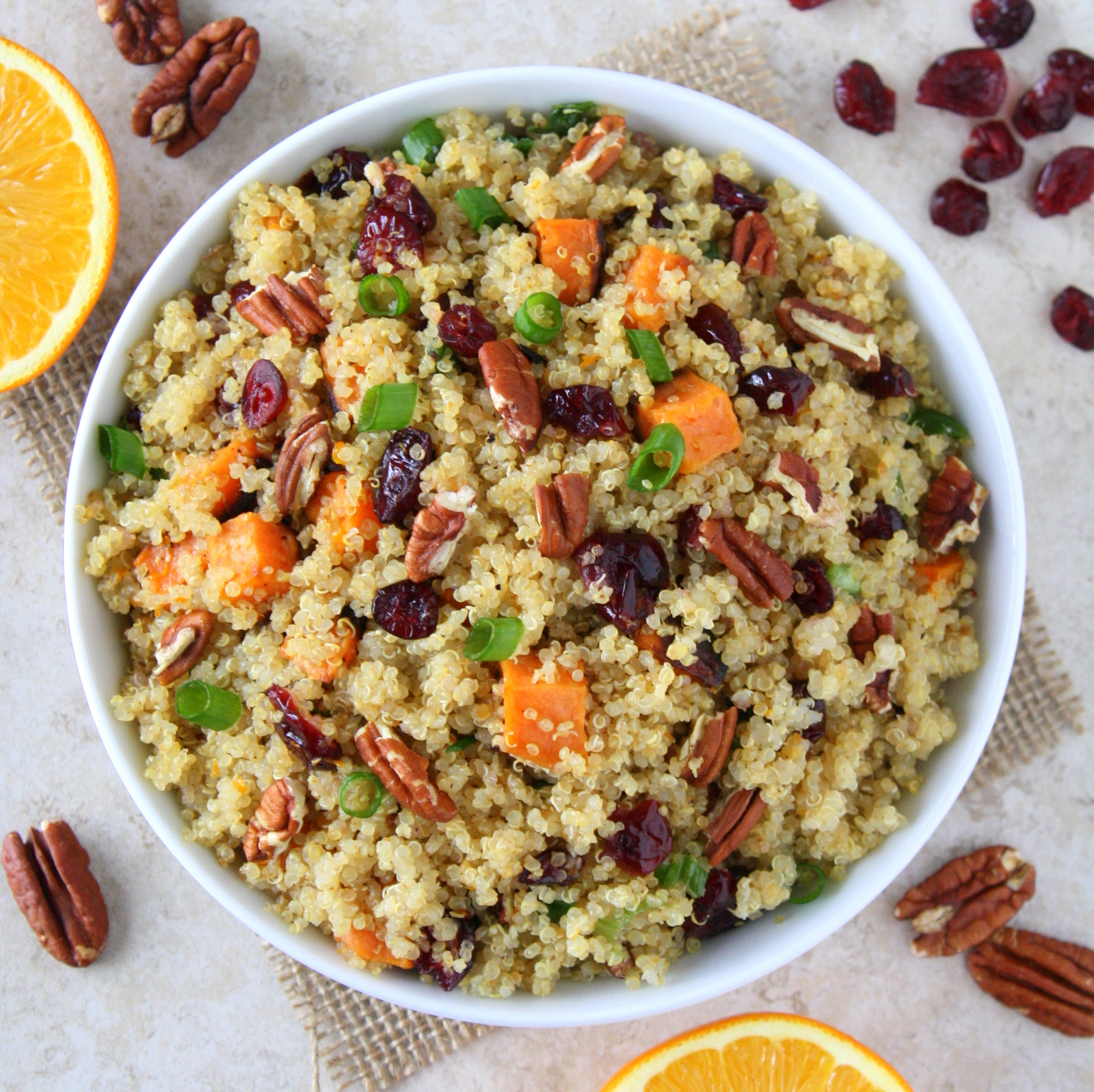 cranberry sweet potato quinoa