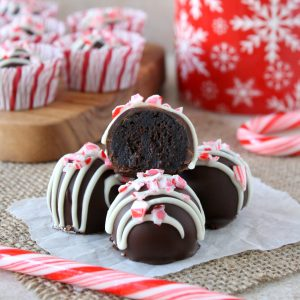 peppermint brownie truffles