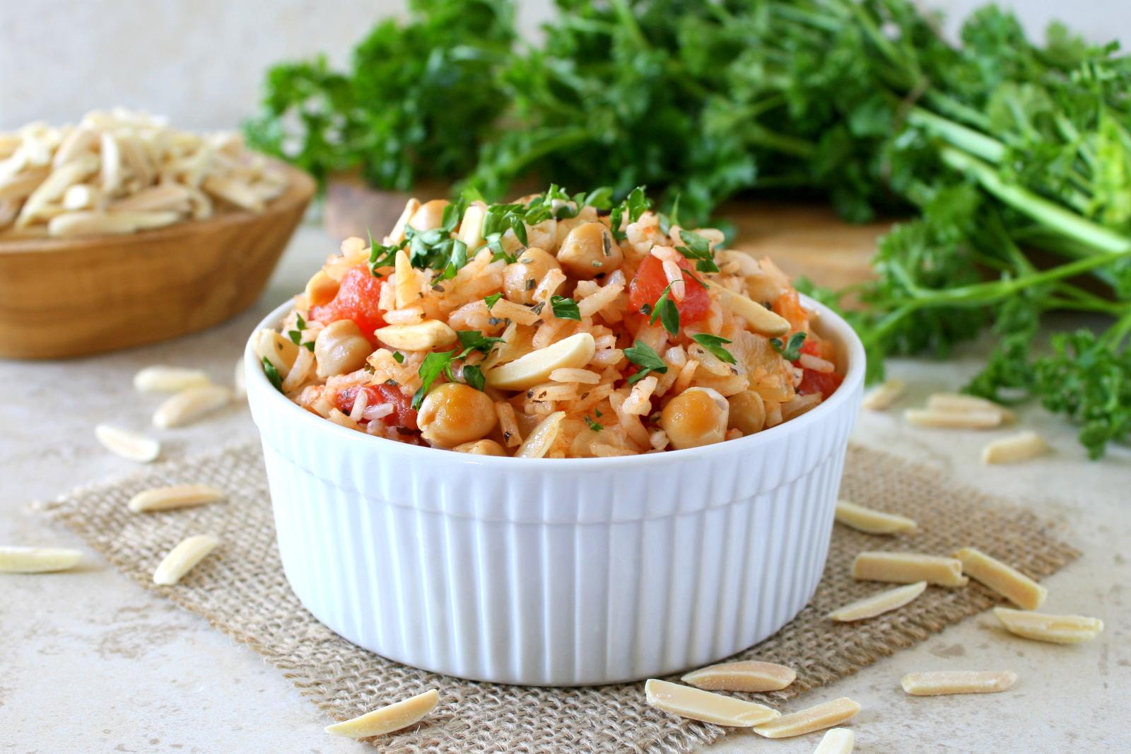 Mediterranean rice pilaf