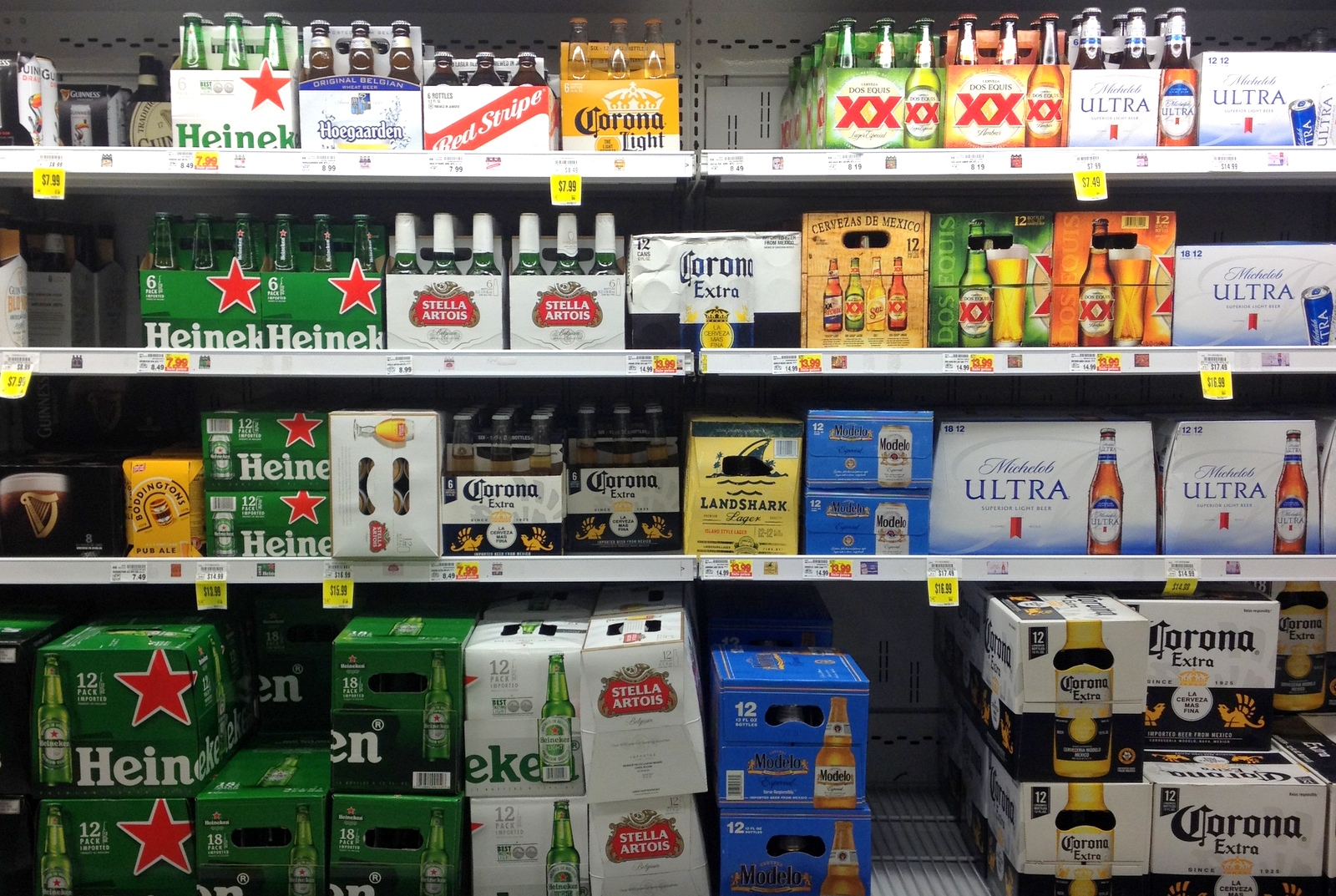 Corona and Modelo display