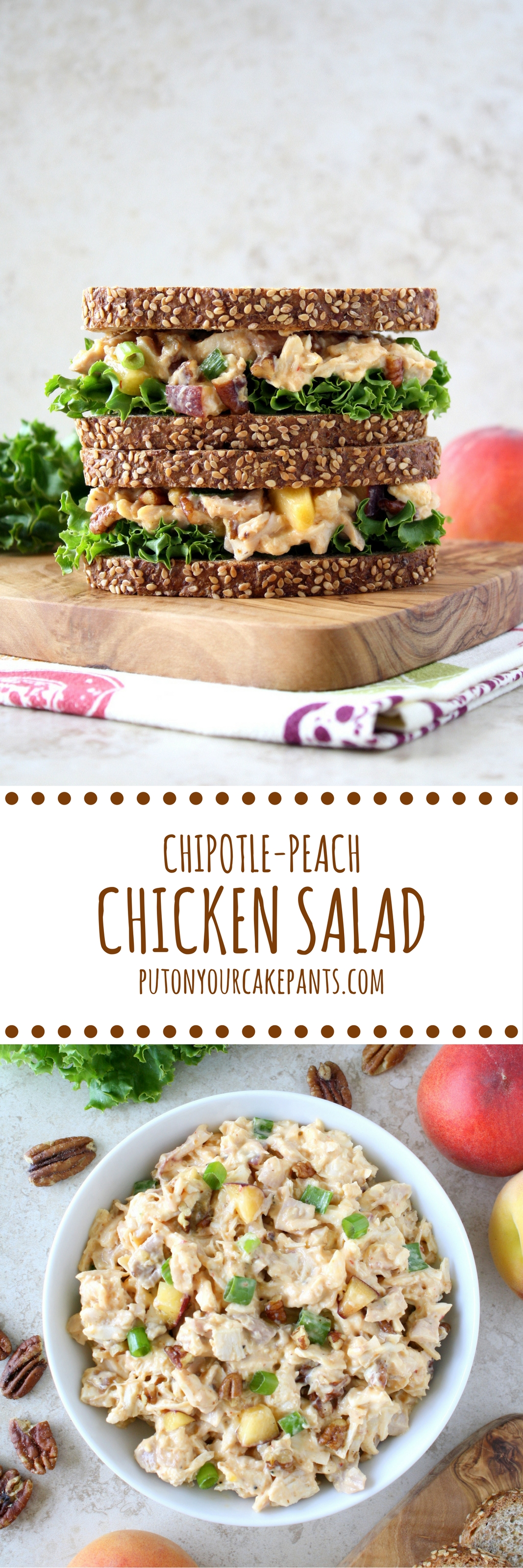chipotle-peach chicken salad
