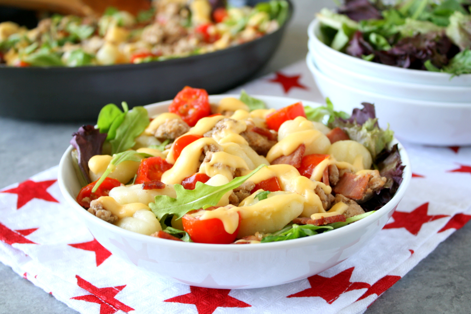 bacon cheeseburger gnocchi