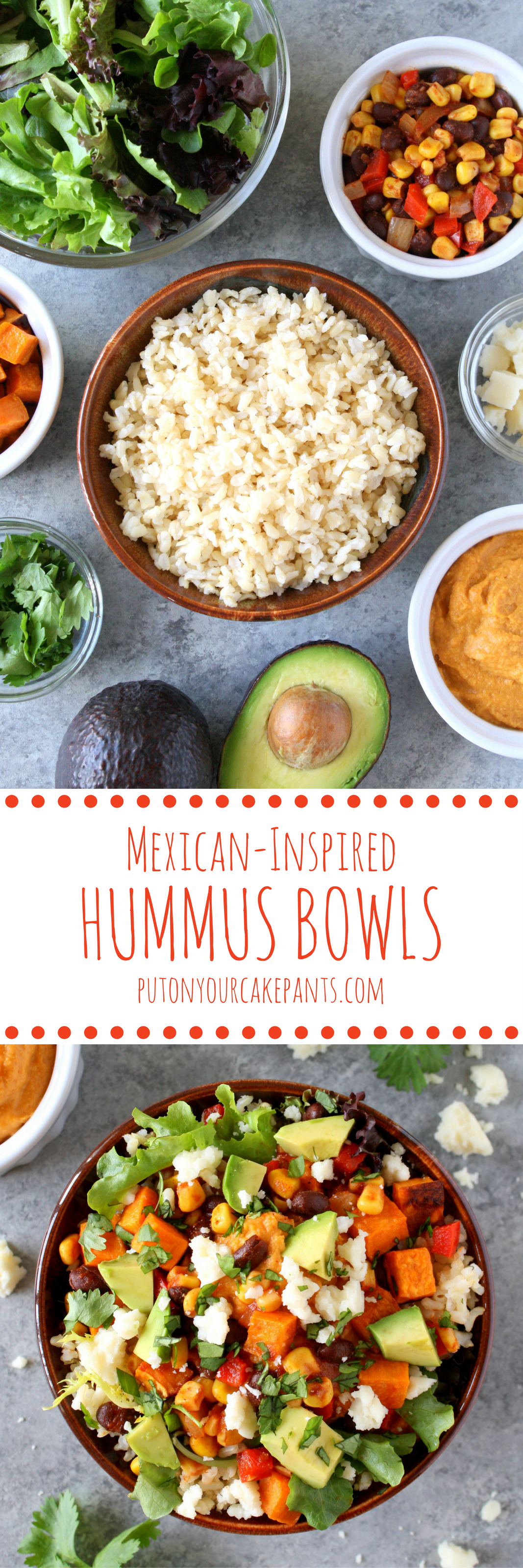 Mexican-inspired hummus bowls